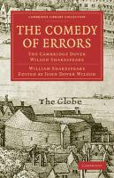 The Comedy of Errors: The Cambridge Dover Wilson Shakespeare (Cambridge Library Collection - Literary  Studies)