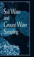 Soil Water and Ground Water Sampling