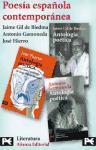 Estuche - Poesía española contemporánea: Jaime Gil de Biedma - Antonio Gamoneda - José Hierro (Bolsillo Estuches)