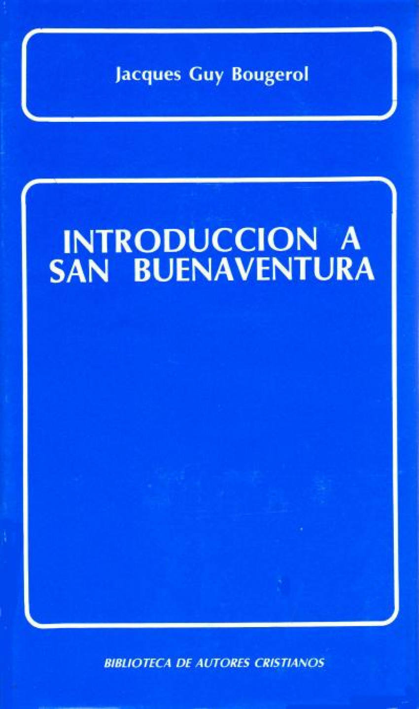 Introducción a San Buenaventura - Bougerol, Jacques Guy